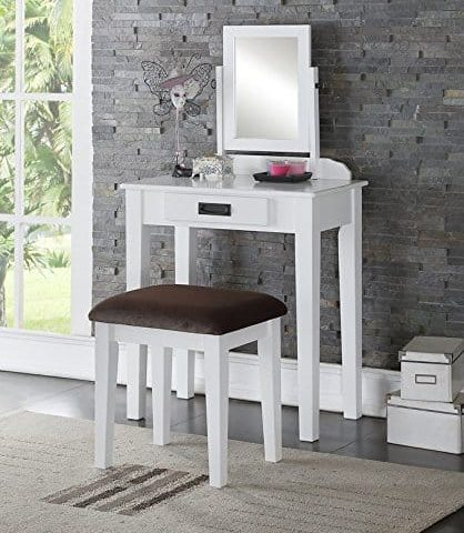 Small White Vanity Makeup Table