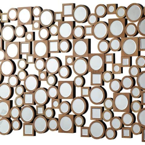 Accent Mirrors Collage Style Mirror with Round and Square Shapes