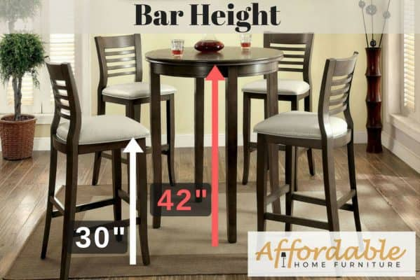 Standard Height Table Counter Height Table Bar Height Table
