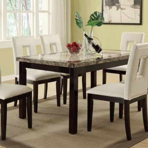 7 PC Dining Table Set Of Elicit Style