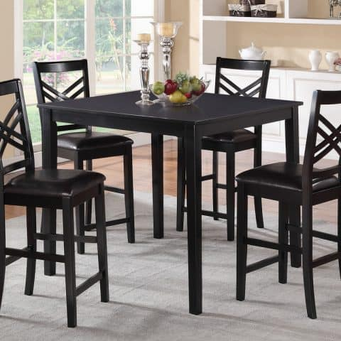 5 Piece Black Counter Height Dining Set