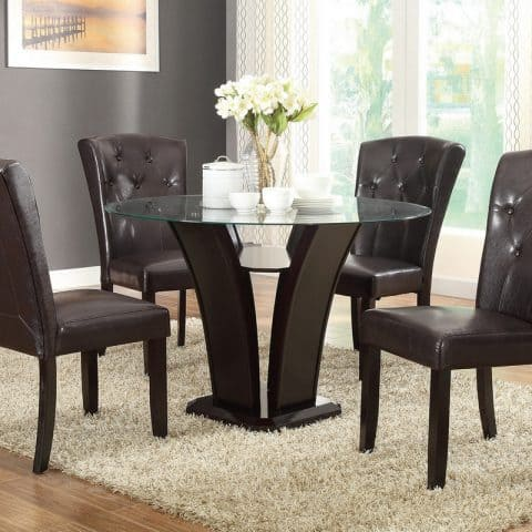 5 pc glass dining table set
