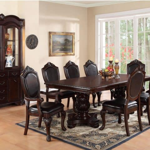 Formal Dining Room Table Seating 8 Chairs