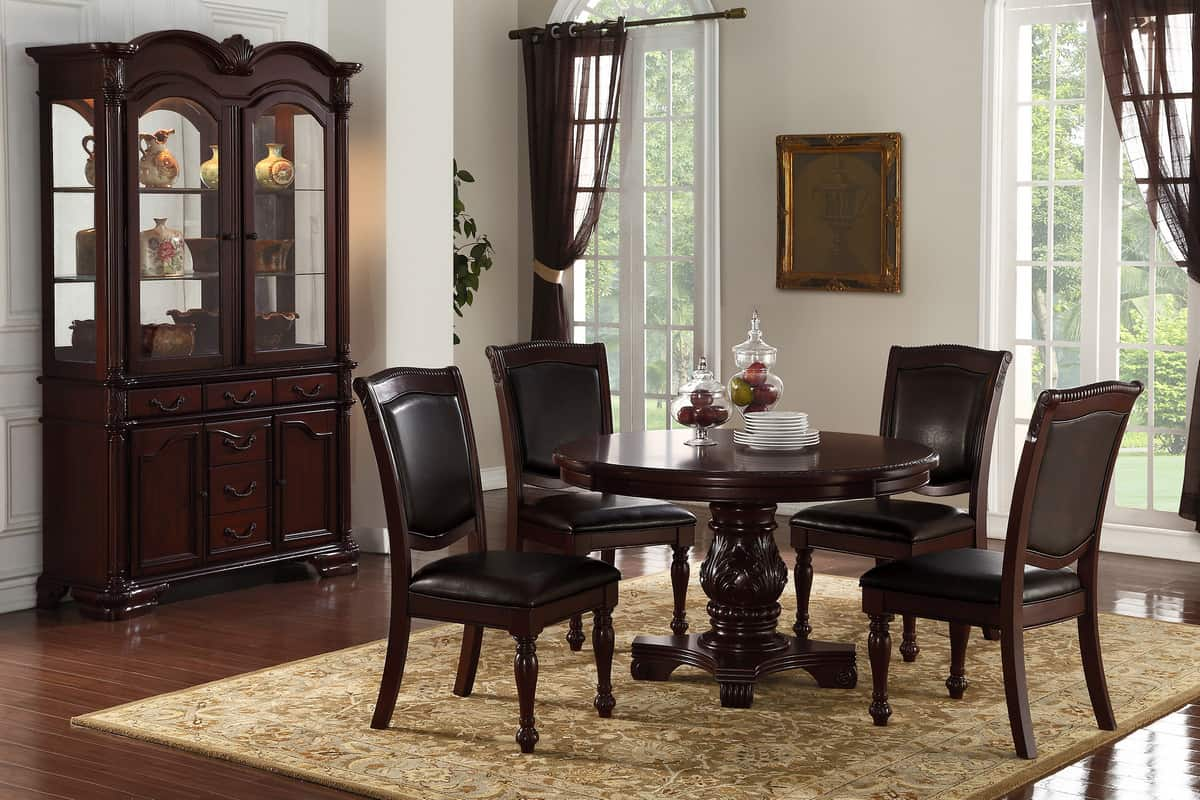 5 Piece Round Formal Dining Table Set   Affordable Home ...