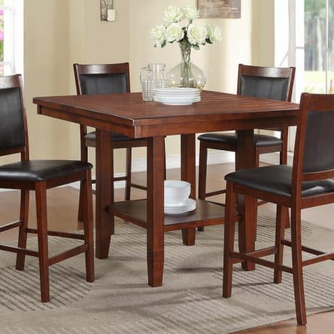 5 Piece Counter Height Dining Sets Walnut