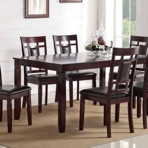 7 Piece Wood Dining Set