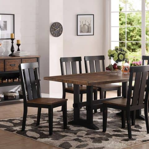 7 Piece Wood Dining Table Set