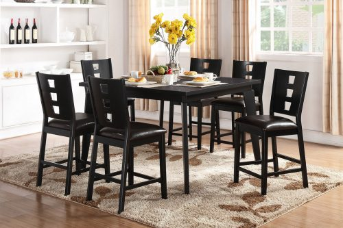 Ordinaire 7 Piece Square Counter Height Dining Set
