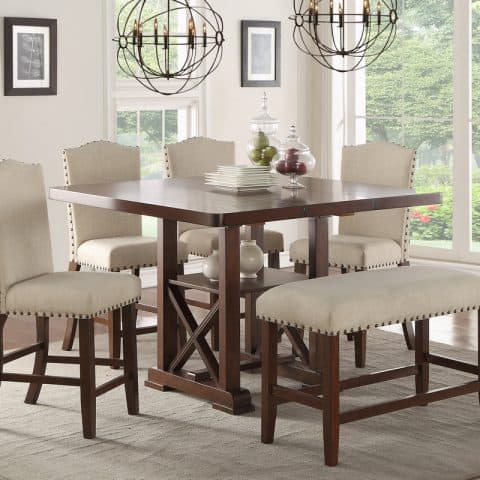 Counter Height Table Set With Leaf