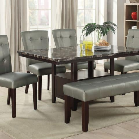 Contemporary Dining Table With Bench