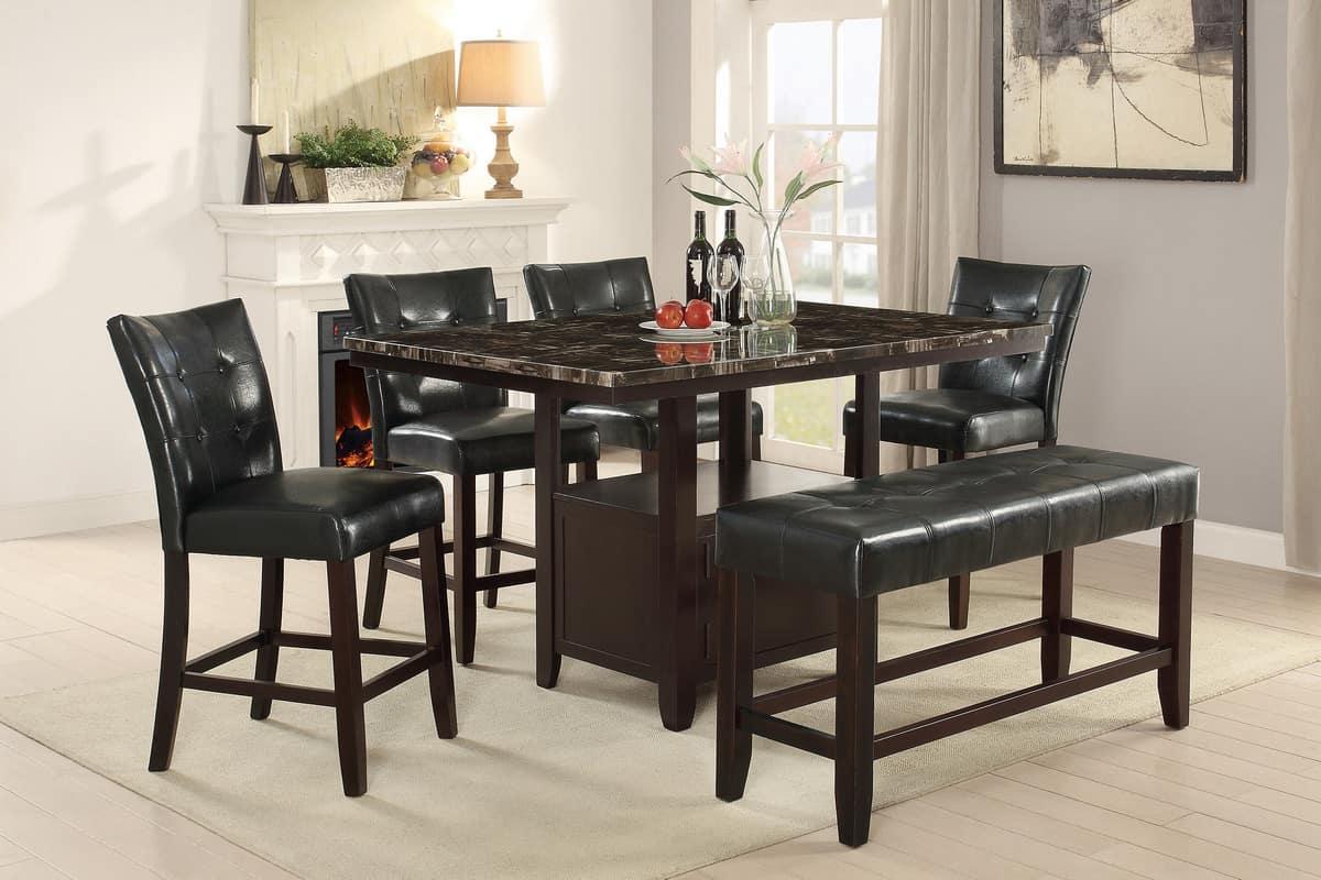 Counter Height Dining Table Rectangular Shape Set