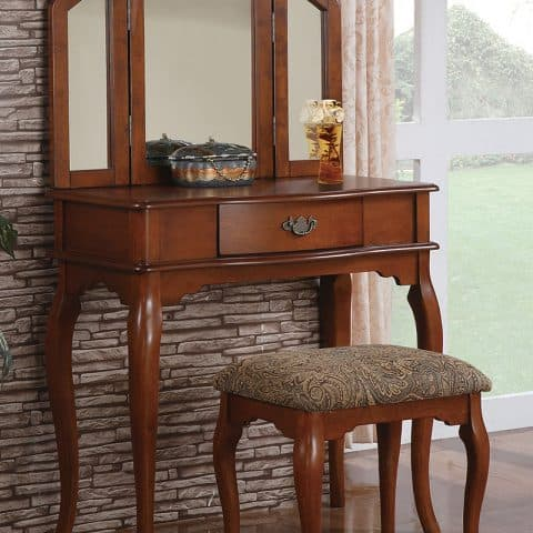 Vanity Single Drawer With Stool