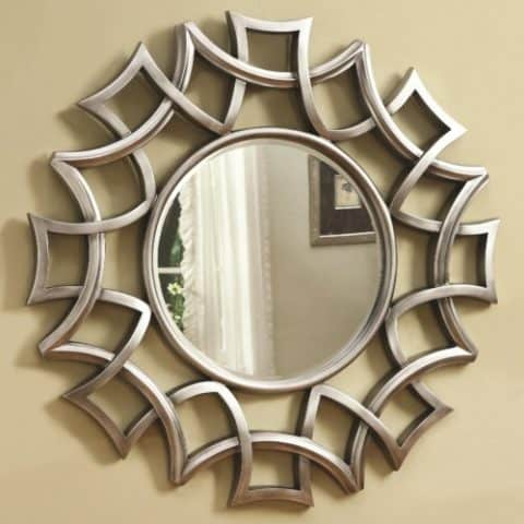 Starburst Wall Mirror Silver Finish