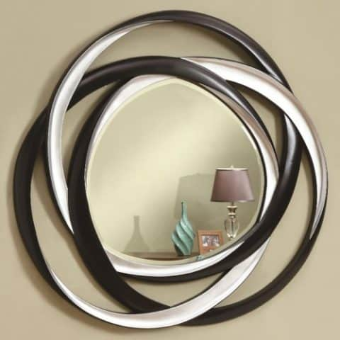 Wall Mirrors Two-Tone Contemporary