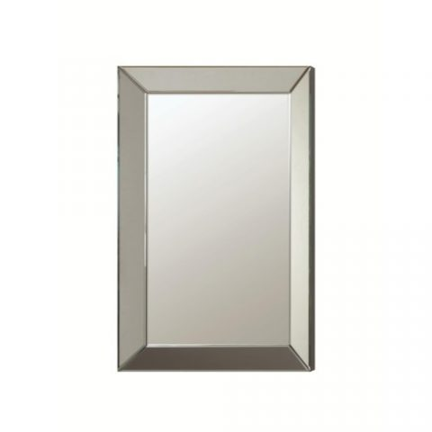 Wall Mirror Contemporary Frame Less Beveled Mirror