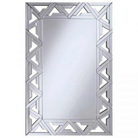 Wall Mirror Geometric Wall Mirror With Mirrored Frame