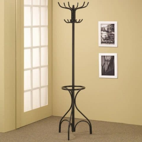 Affordable Black Metal Contemporary Design Coat Rack