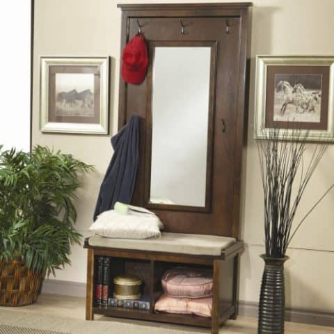 Hall Tree With Storage & Mirror