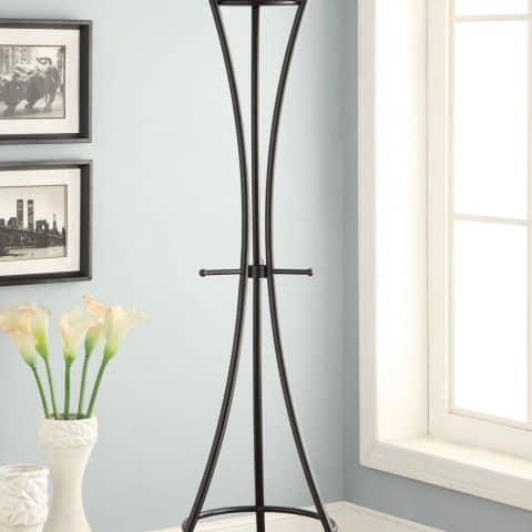 Coat Rack Black Metal Contemporary Design
