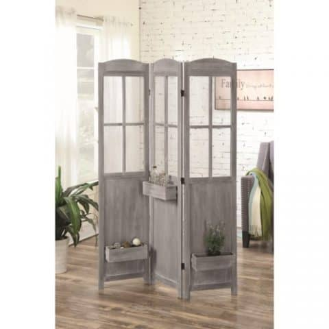 Antique Grey Room Divider