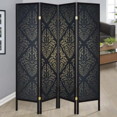 Black Finish Room Divider |