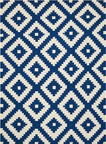 Blue Pattern Large Area Rug