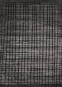 Abstract Charcoal Pattern Area Rug