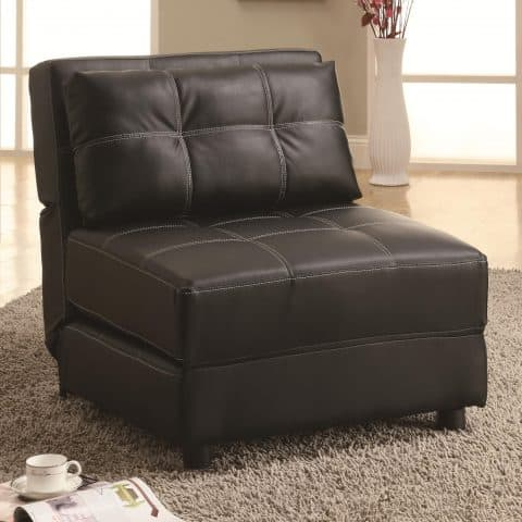 Accent Chair Contemporary Armless Lounge Chair & Sofa Bed