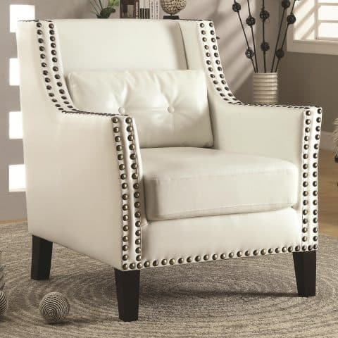 Accent Chair Transitional Wing Chair With Nail Heads