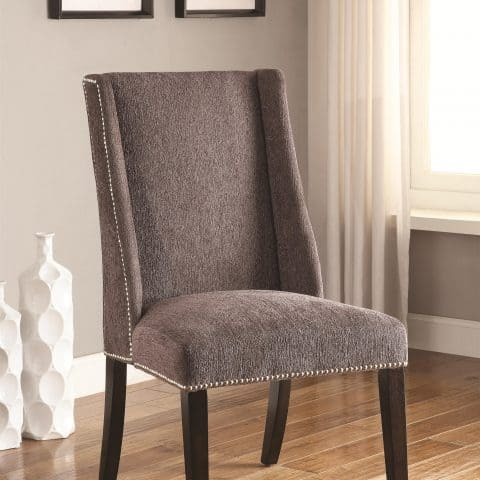 Accent Chair Wing Back Side