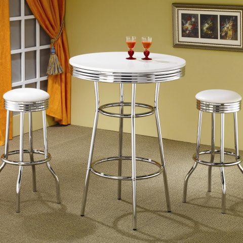 Prime 3 Piece Industrial Bar Table Set Affordable Home Furniture Customarchery Wood Chair Design Ideas Customarcherynet
