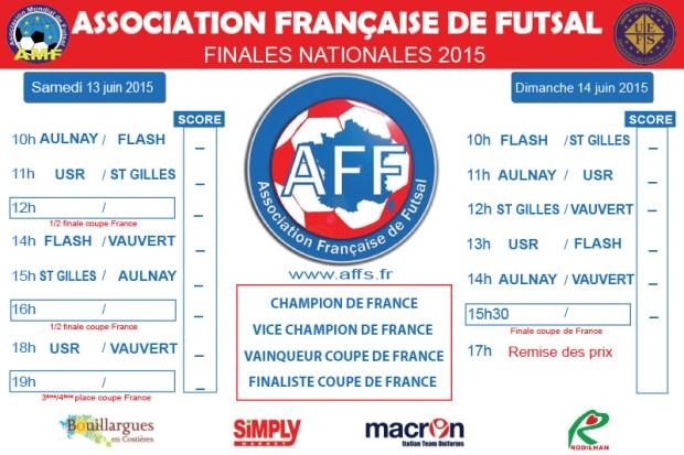 Programme Finales Nationales Futsal AMF