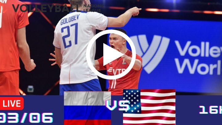 Resultado: Rússia 3 vs 1 EUA – Liga das Nações – 03/06 – 16h