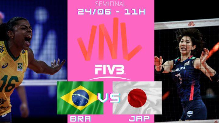 Brasil 3 vs 1 Japão – Liga das Nações – 24/06/2021