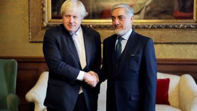 Photo of Chief Executive Dr Abdullah Abdullah met with Foreign Secretary Boris Johnson