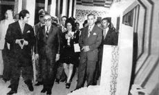Sardar Mohammad Daud Khan at the time of the visit of one of the country's textile factory