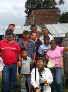 "Hubert ""Huber"" Ballesteros meets with AfGJ delegates and farming families in Cauca, Colombia"