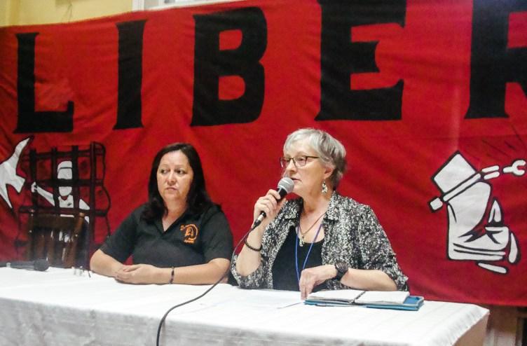 Honduras Political Prisoners Press Conference Human Rights, Speaker Vicki Cervantes