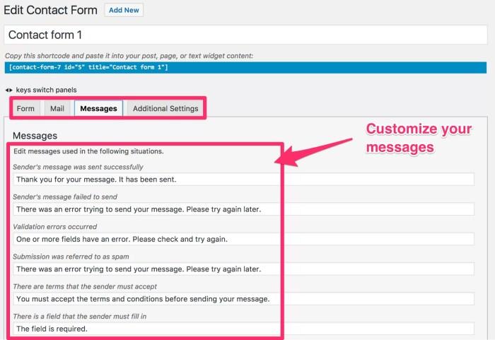 اضافة Contact Form 7