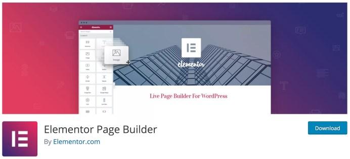 اضافة Elementor Page Builder
