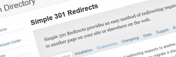اضافة Simple 301 Redirects
