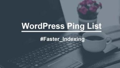 صورة قائمة محدثة لـ أداة ping لتسريع فهرسة موقعك فى محركات البحث