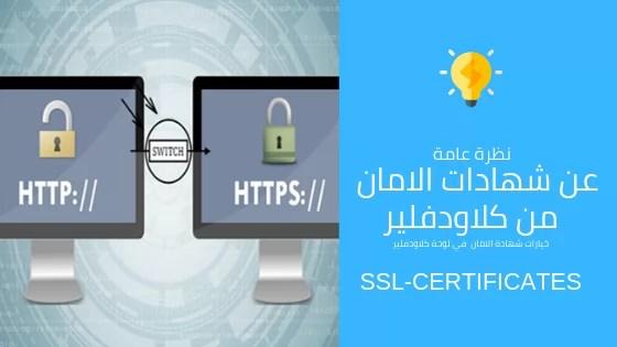 صورة نظرة عامة عن شهادة الامان SSL الخاصة بـ Cloudflare