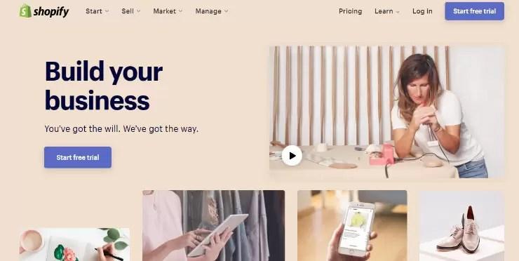 Shopify هو حل تجارة إلكترونية مستضاف بالكامل