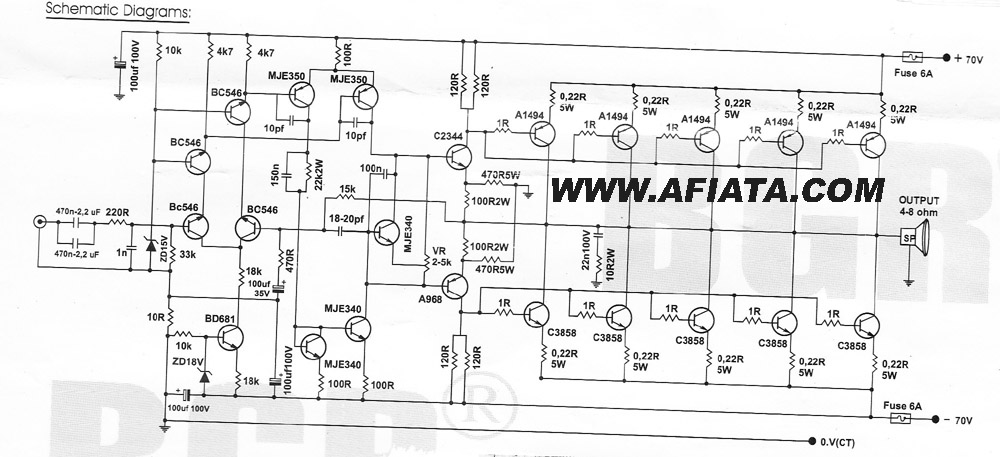 Power Amp 10.000w circuit diagram