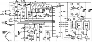 ESR meter circuit using 78L05, Z86E0412, 4094, BC328