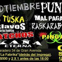SANTIAGO / EL BOSQUE: SÁBADO 06 DE SEPTIEMBRE DE 2014 - SEDTIEMBRE PUNK