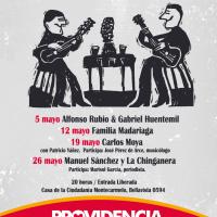 PROVIDENCIA: JUEVES 05, 12, 19 Y 26 DE MAYO DE 2016 - CANTORES Y PUETAS