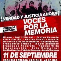 ÑUÑOA: DOMINGO 11 DE SEPTIEMBRE DE 2016  VOCES POR LA MEMORIA