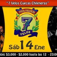 sábado 14 de enero de 2017: 7 VELOS  CUECAS CHILENERAS #barraices #stgo